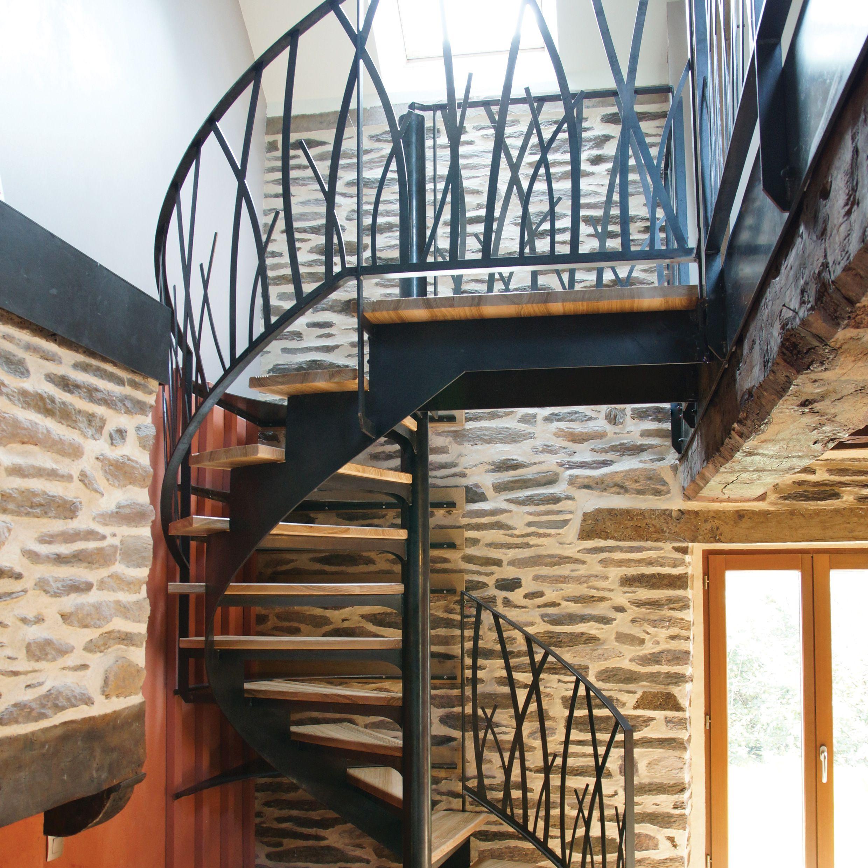 escalier mod le herbage 3 ville de moncontour metafer ferronneries r novation du. Black Bedroom Furniture Sets. Home Design Ideas