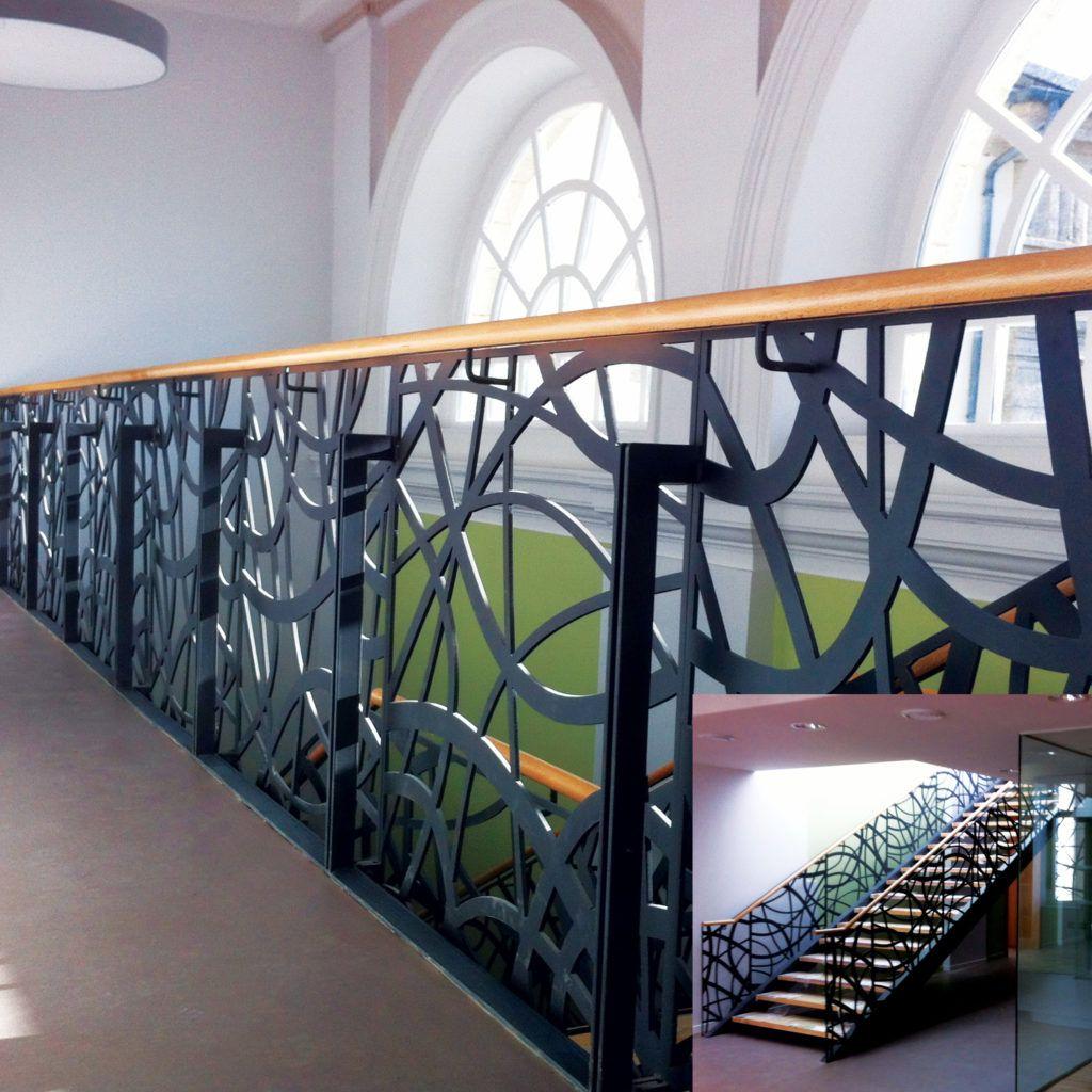 Escalier et garde-corps - acier modèle «Méli-Mélo » - Ville de Loudéac